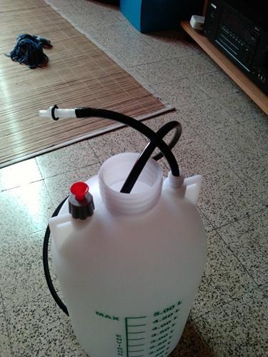 bouteille verre 2 litres